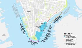 Lower Manhattan Resiliency, de Blasio, climate change nyc