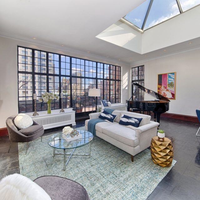 This $3.3M Upper East Side penthouse is wrapped with terraces and classic casement windows