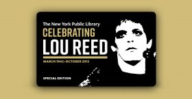Lou reed, new york public library, nypl