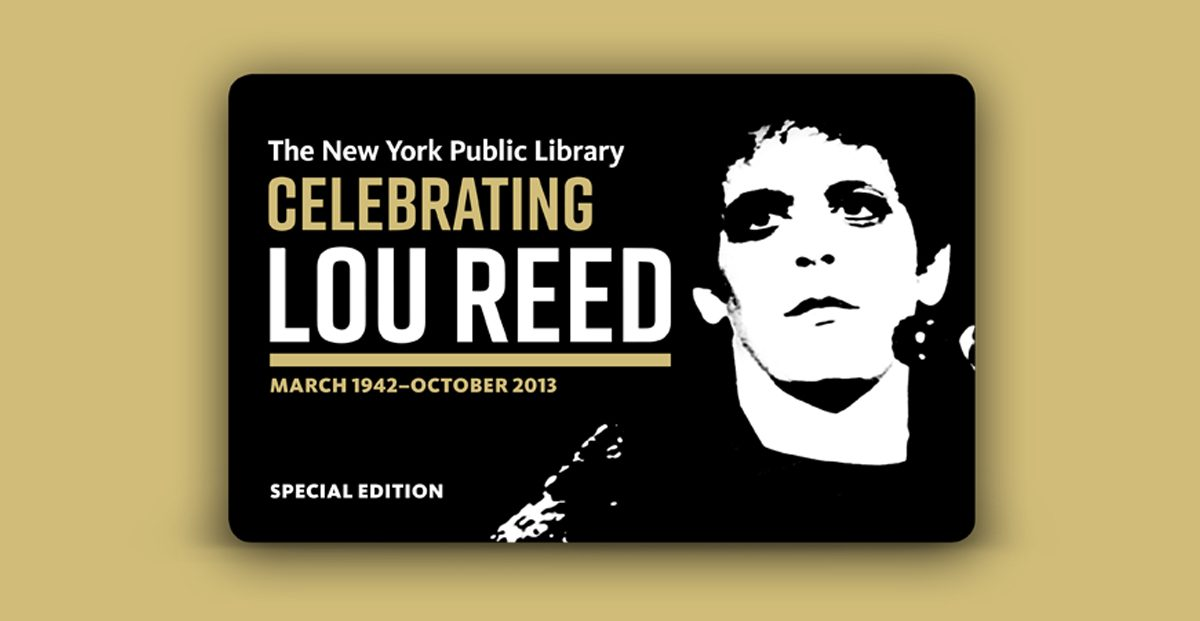 Lou Reed archive opens at New York Public Library, complete with special edition library card