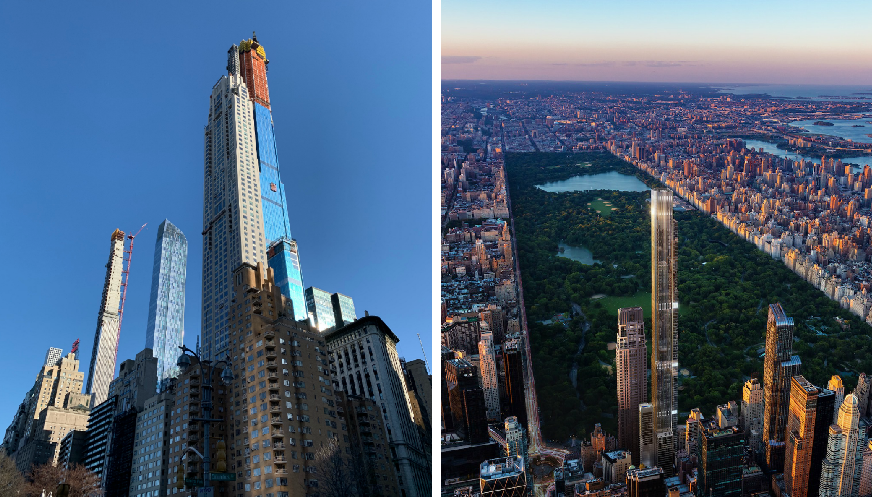They Say Theyre Building Worlds Tallest >> Central Park Tower Rises Above 432 Park Officially Becomes Tallest