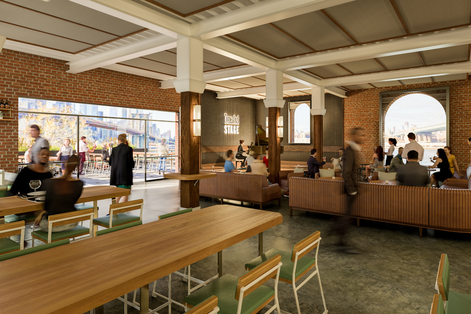 Time Out reveals more vendors and views of Dumbo food hall | 6sqft