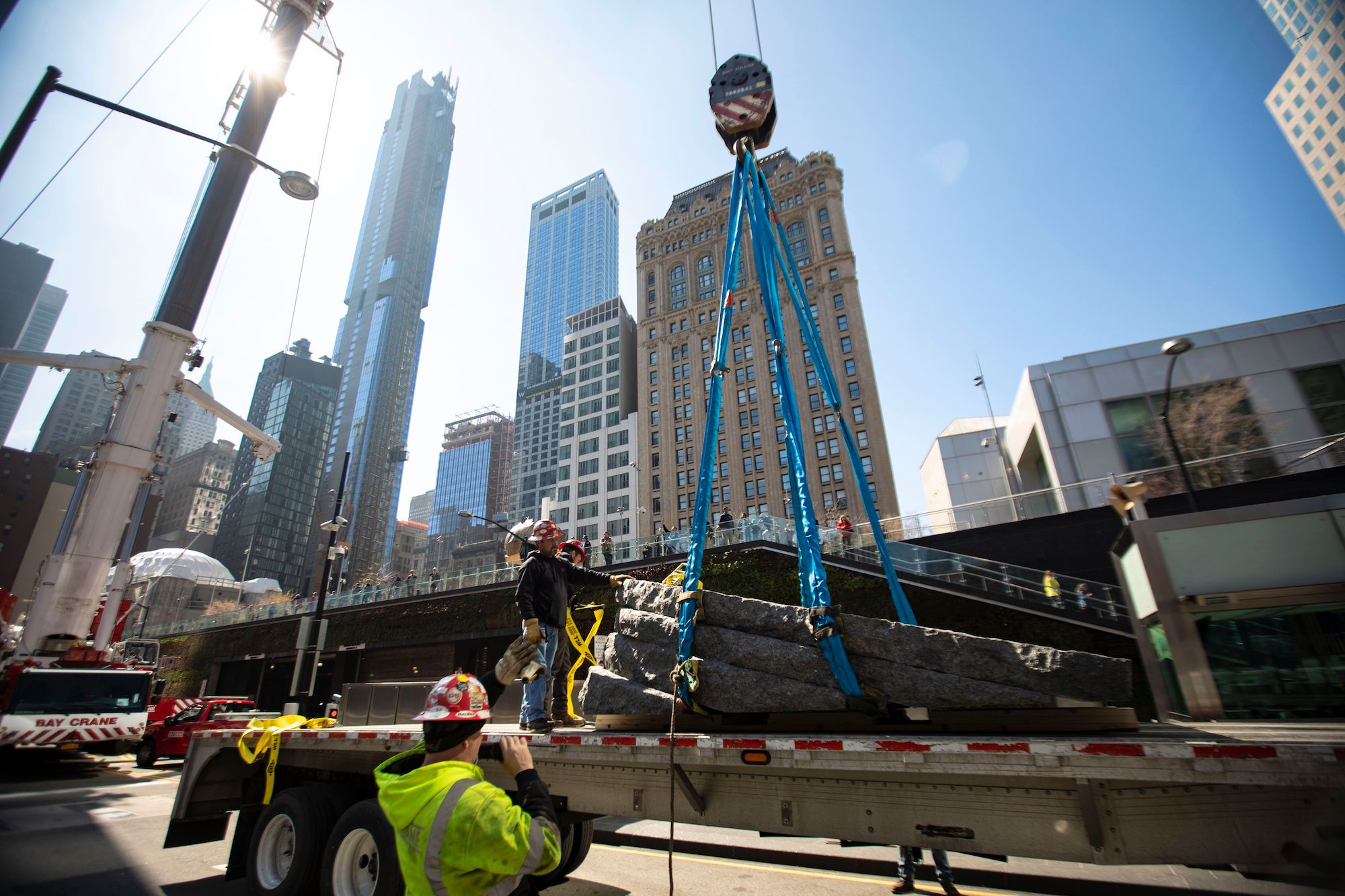 See The Stone Monoliths Being Installed At New 9 11 Memorial For