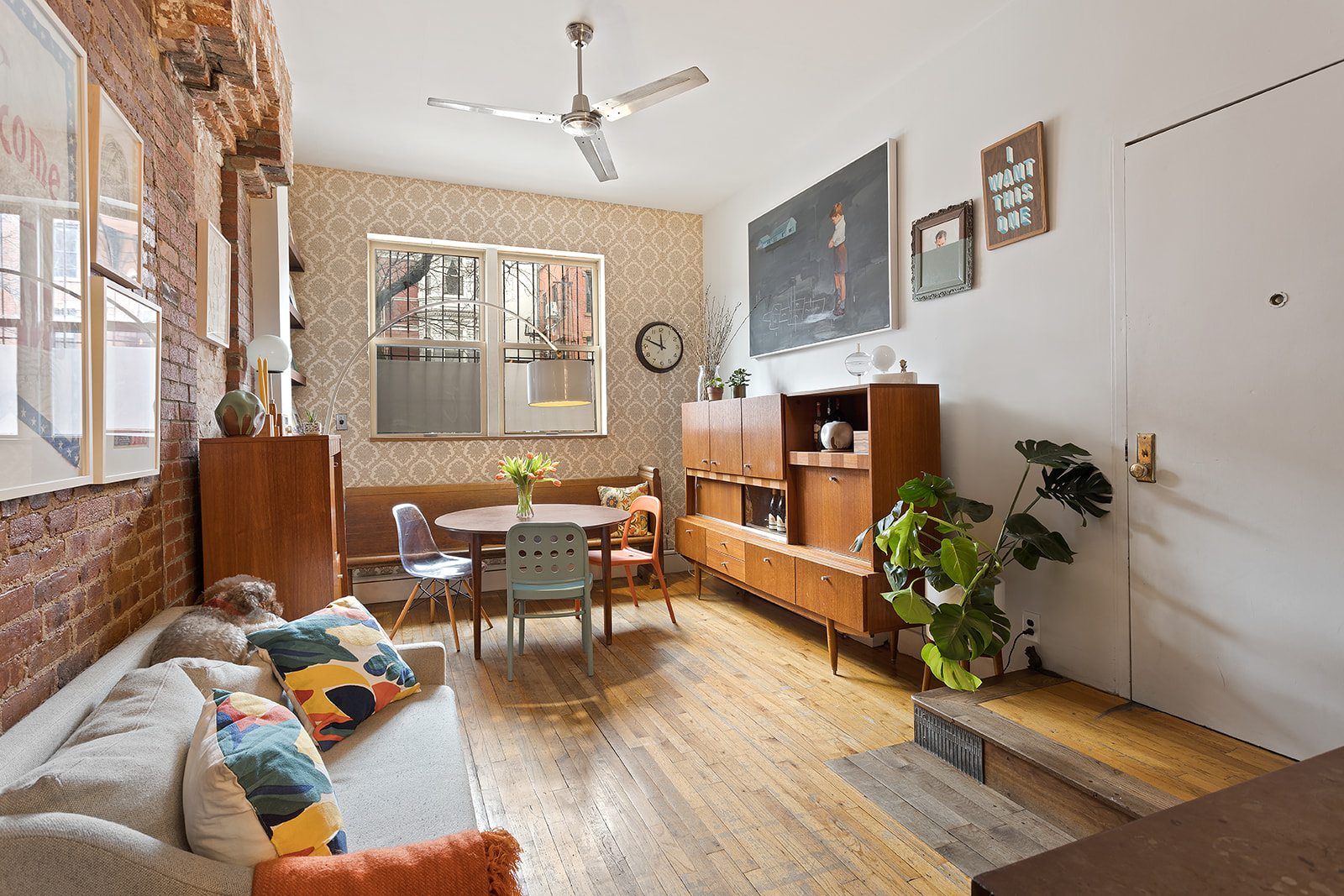 This Park Slope garden duplex has funky vintage style within