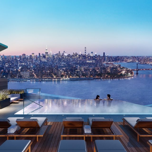 VIDEO: See the city's highest rooftop pool get lifted 680 feet atop supertall Brooklyn Point