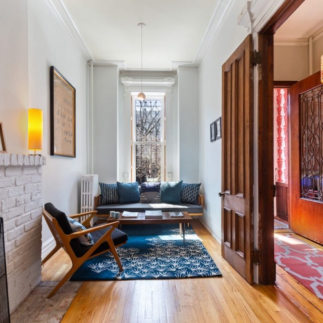 This cute slice of a Clinton Hill townhouse has rooms for everyone, a garden and a roof deck for $2.8M