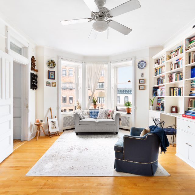 Live in a charming Park Slope co-op one block from Prospect Park for just $695K