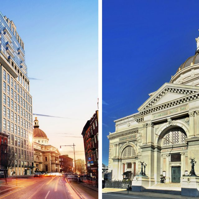 New rendering shows 277-foot tower rising next to Williamsburgh Savings Bank