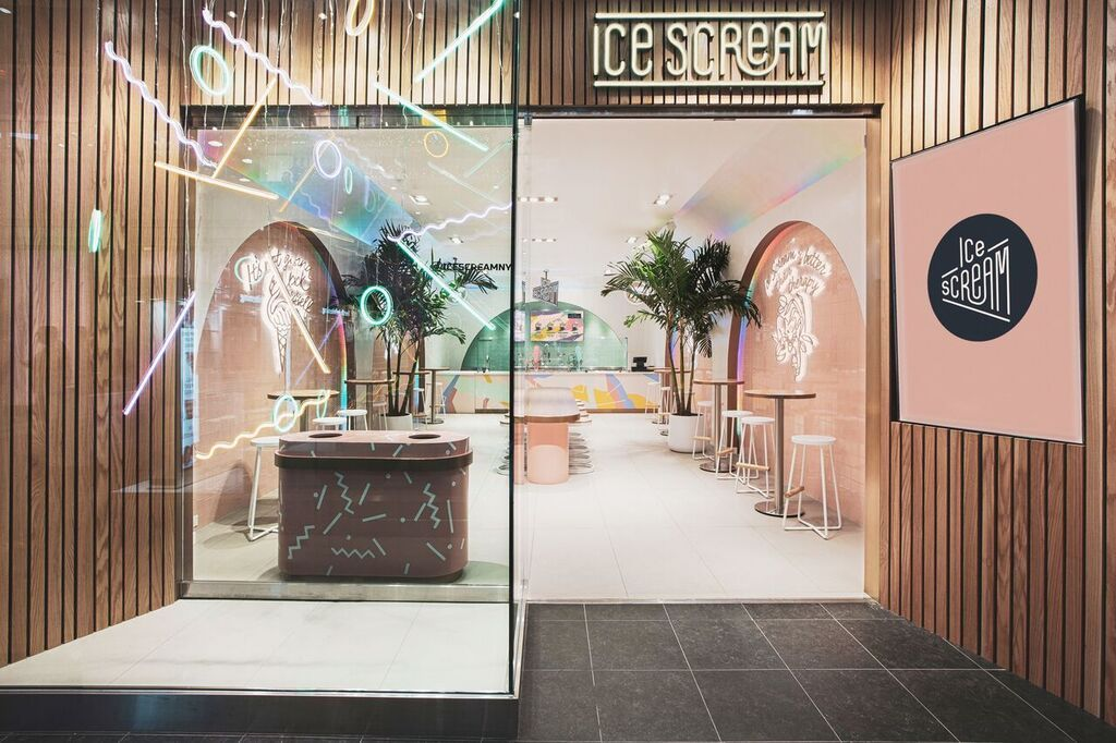 This Nitrogen Ice Cream Parlor In The Bronx Is A Pastelpainted Interesting No Fee 1 Bedroom Apartments Nyc Concept Painting