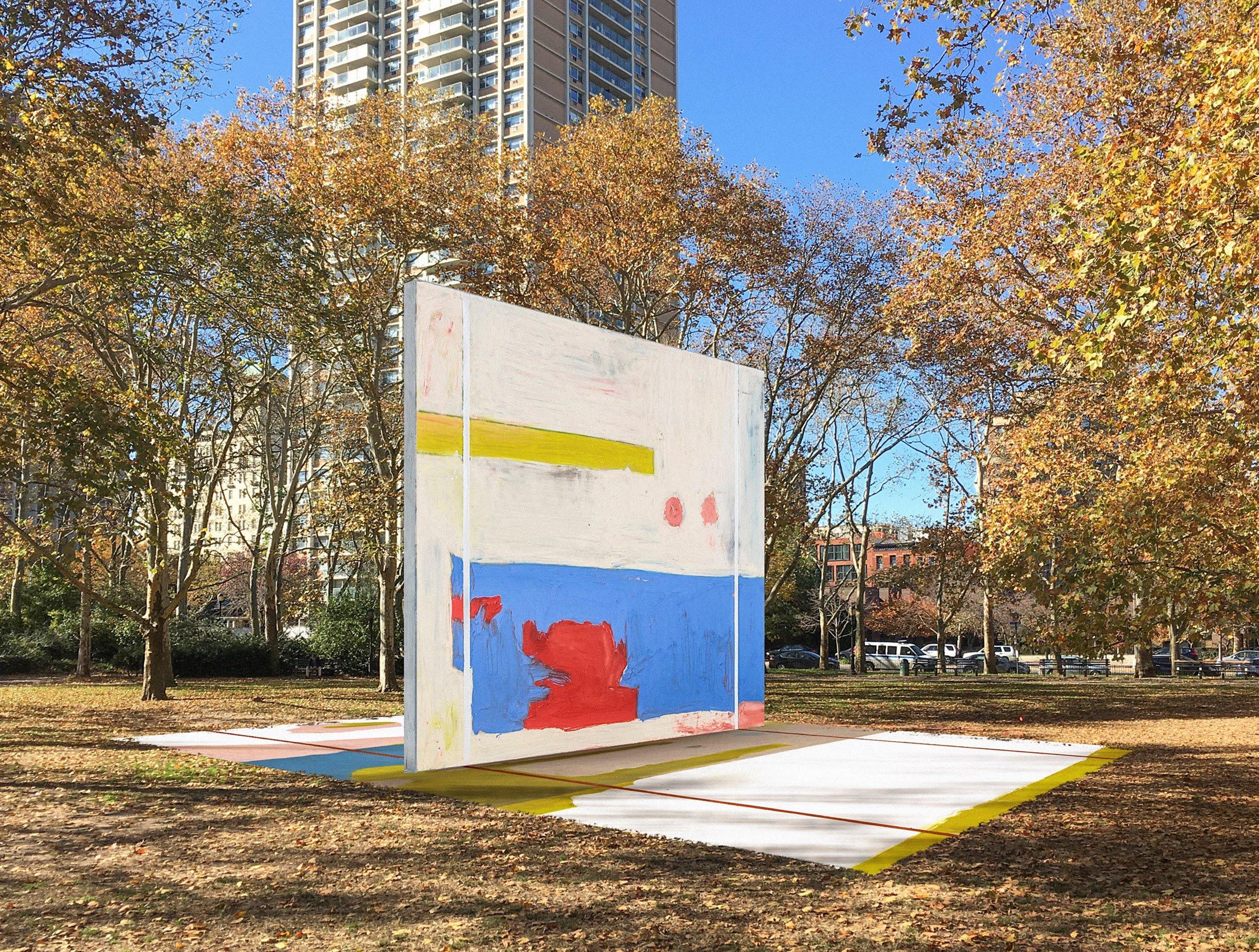 Harold Ancart, subliminal standard, public art, spring art guide