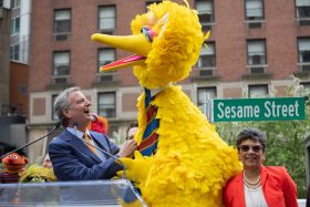 sesame street, mayor bill de blasio
