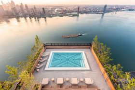 The Sentry Club, American Copper Buildings, NYC pools