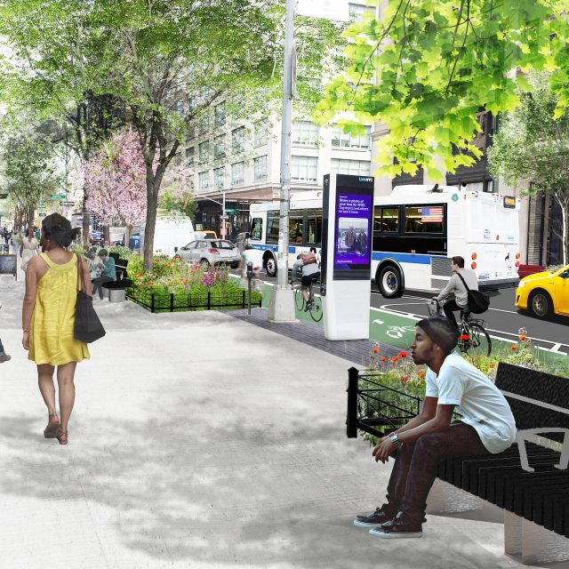 Work starts on transforming Hudson Street to a 'grand allée' with wide sidewalks and bike lanes