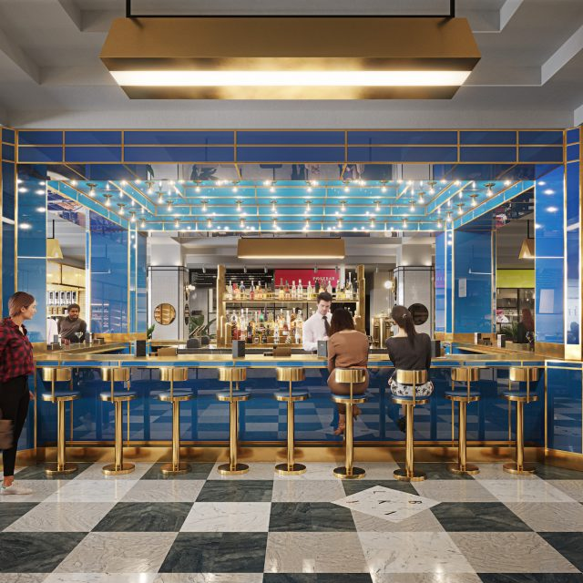 Art Deco-inspired food hall and bar to open in the Garment District this summer