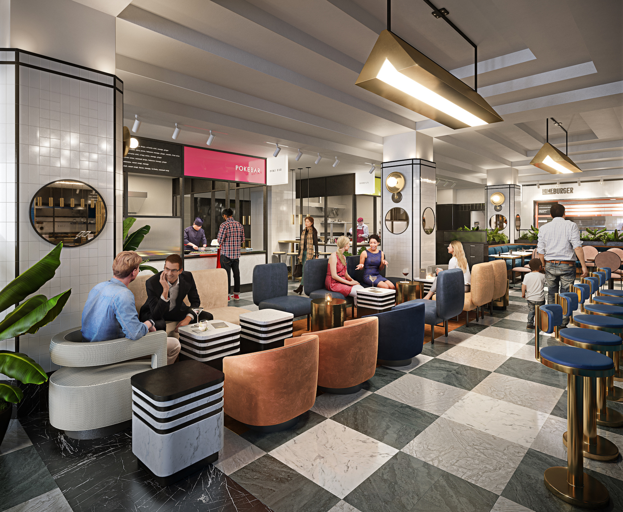 Art Deco Inspired Food Hall Opening In Midtown Will Offer