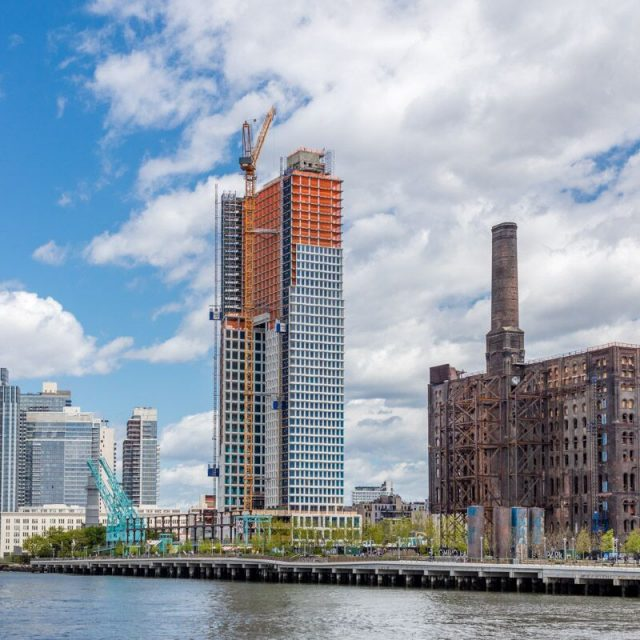 Williamsburg's tallest tower tops out at Domino Sugar Factory development