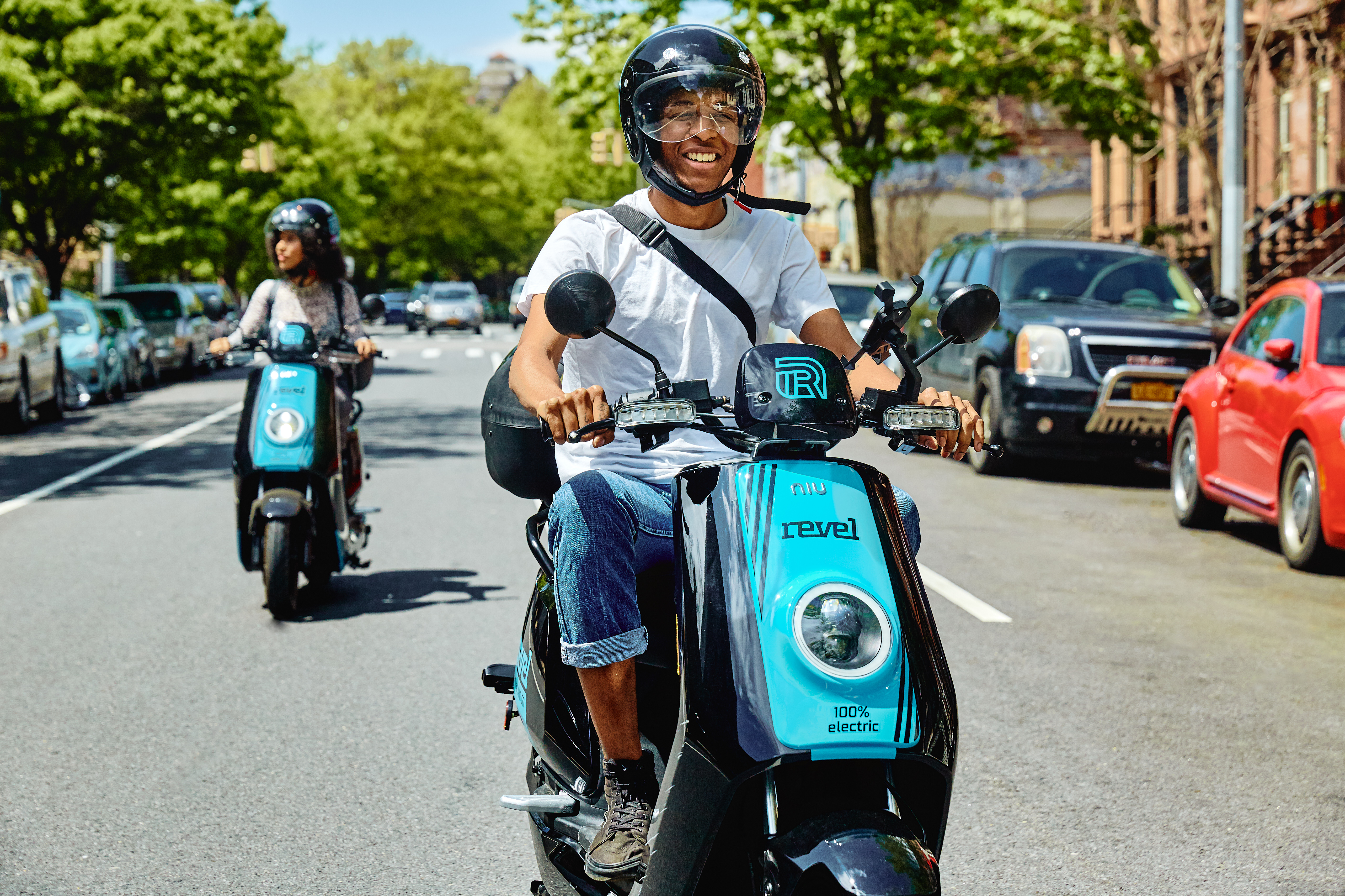 After a successful pilot program, city's first shared e-moped