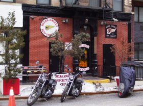 Hell's angels clubhouse, 77 east 3rd street, east village