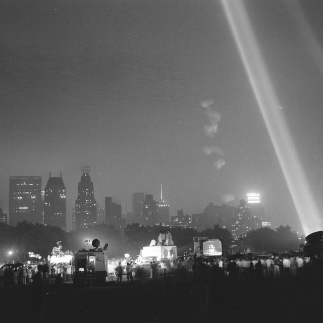 Historic photos show New Yorkers celebrating the Moon Landing at Central Park's Moon-In