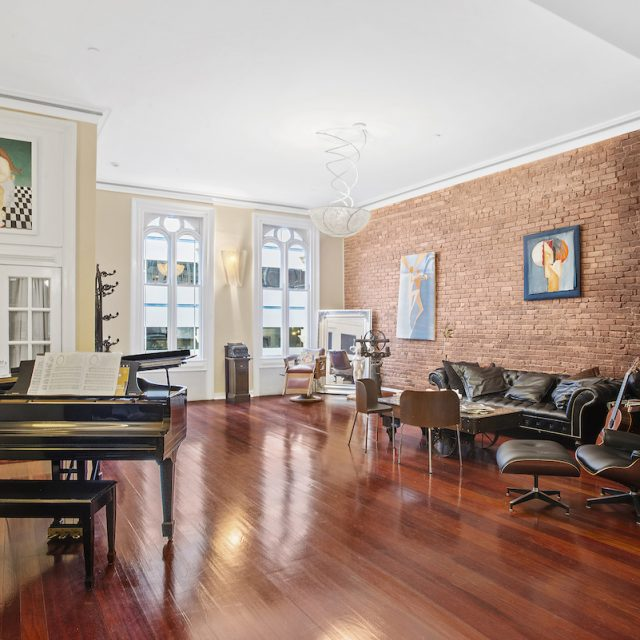 This $17.5M historic Tribeca townhouse has a jazz club in the basement