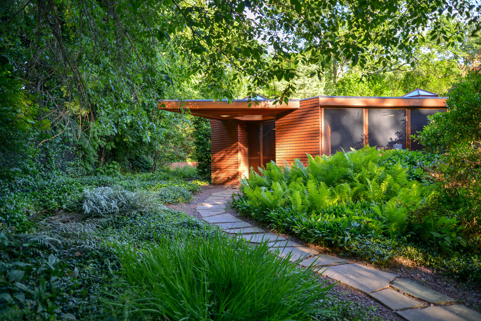Frank Lloyd Wright's unique hexagonal house in Glen Ridge