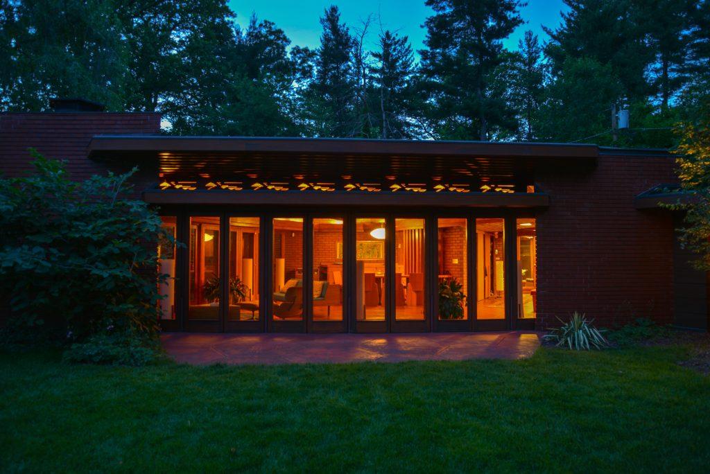 Frank Lloyd Wright's unique hexagonal house in Glen Ridge, NJ is