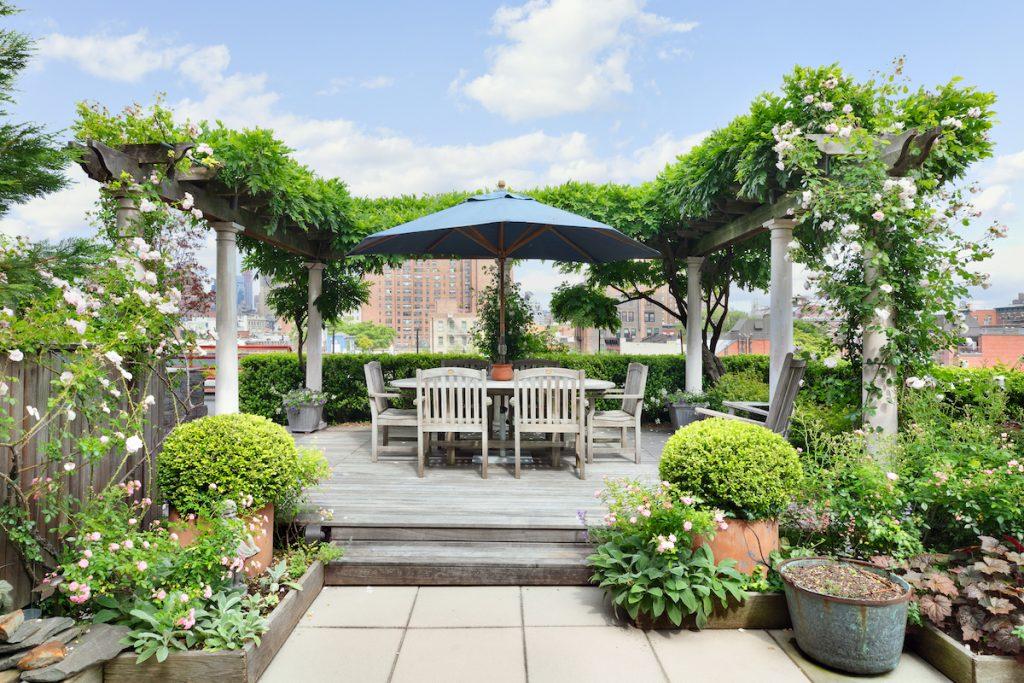 Asking $7M, this sprawling West Village condo has a two-level, three-season sky garden | 6sqft