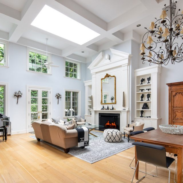 Asking $16M, this charming Chelsea carriage house has two terraces, a garden, and a private garage