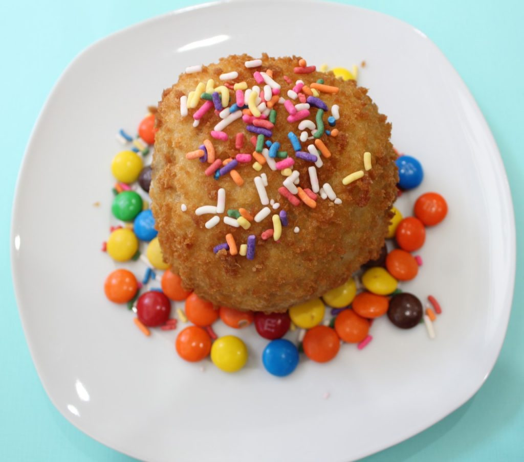 fried ice cream, sprinkles, nyc