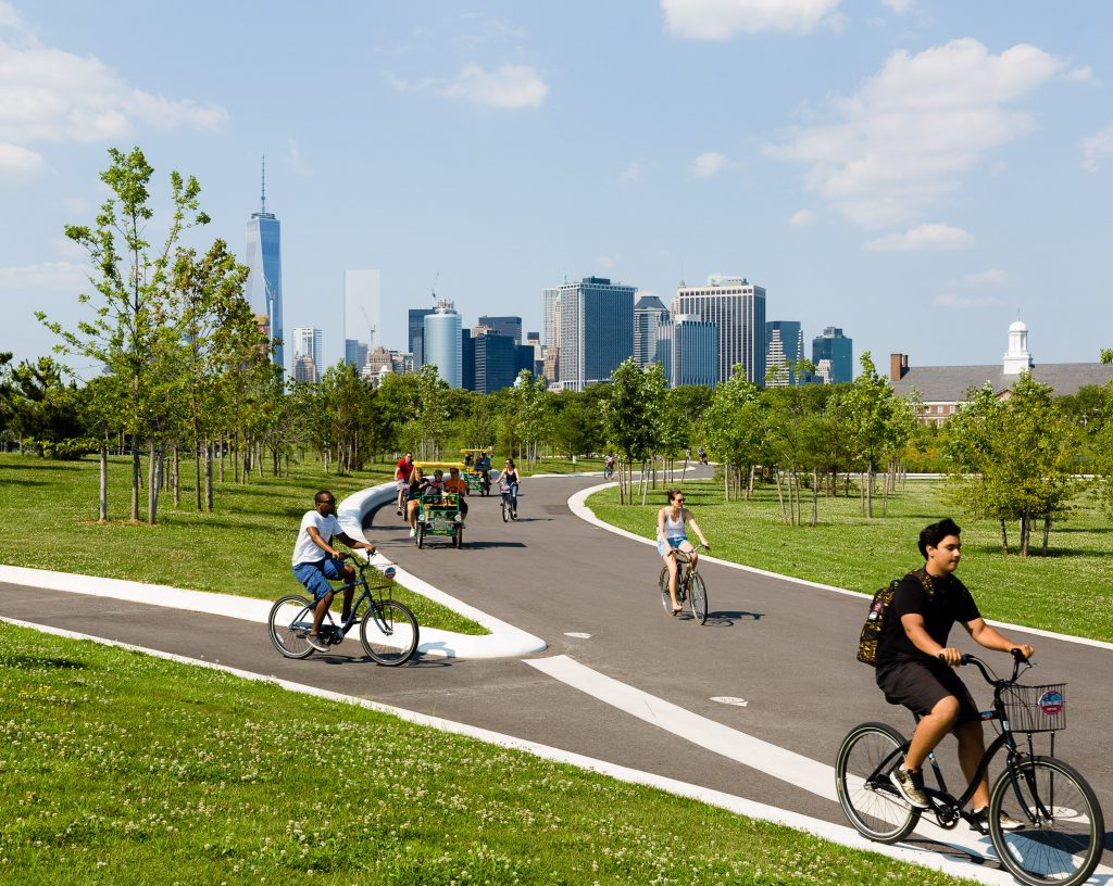 biking, bike, governors island