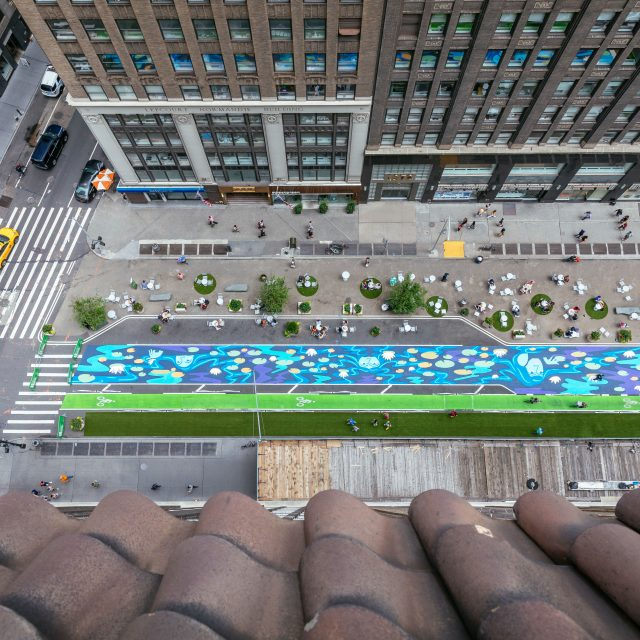 An urban garden will grow on a Garment District block this summer