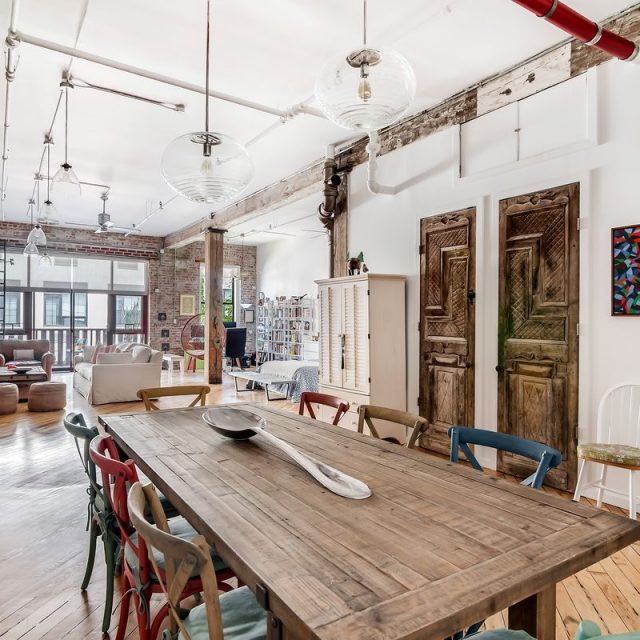 For $6K/month, a trendy loft studio with a piano in Williamsburg's popular Mill Building