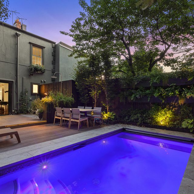 $3.65M Williamsburg townhouse with an in-ground pool is a summer retreat in the city