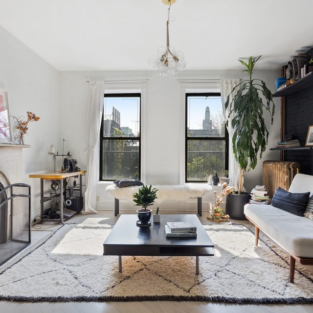 Rent a polished Fort Greene one bedroom with a wood-burning fireplace for $3K/month