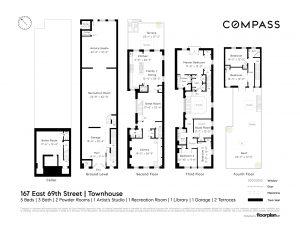 167 east 69th Street, cool listings, townhouses, upper east side, art studio, garage, curb cut