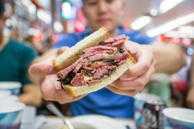 katz's deli, pastrami sandwich