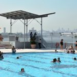 east river, bronx, floating pool