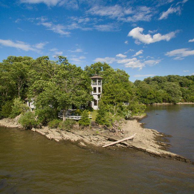 This $4M upstate Zen retreat is on a private island in the Hudson River