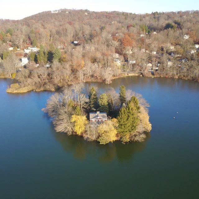 You can buy this house on a private island upstate for $850K, but you can only get there by boat