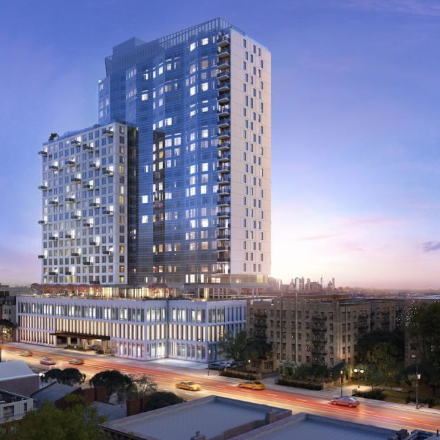 New renderings reveal Prospect-Lefferts tower with luxury amenities and Verrazano Bridge views