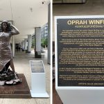 Statues for Equality, women statues, statues of women NYC, 1285 Avenue of the Americas, Gillie and Marc, Oprah statue