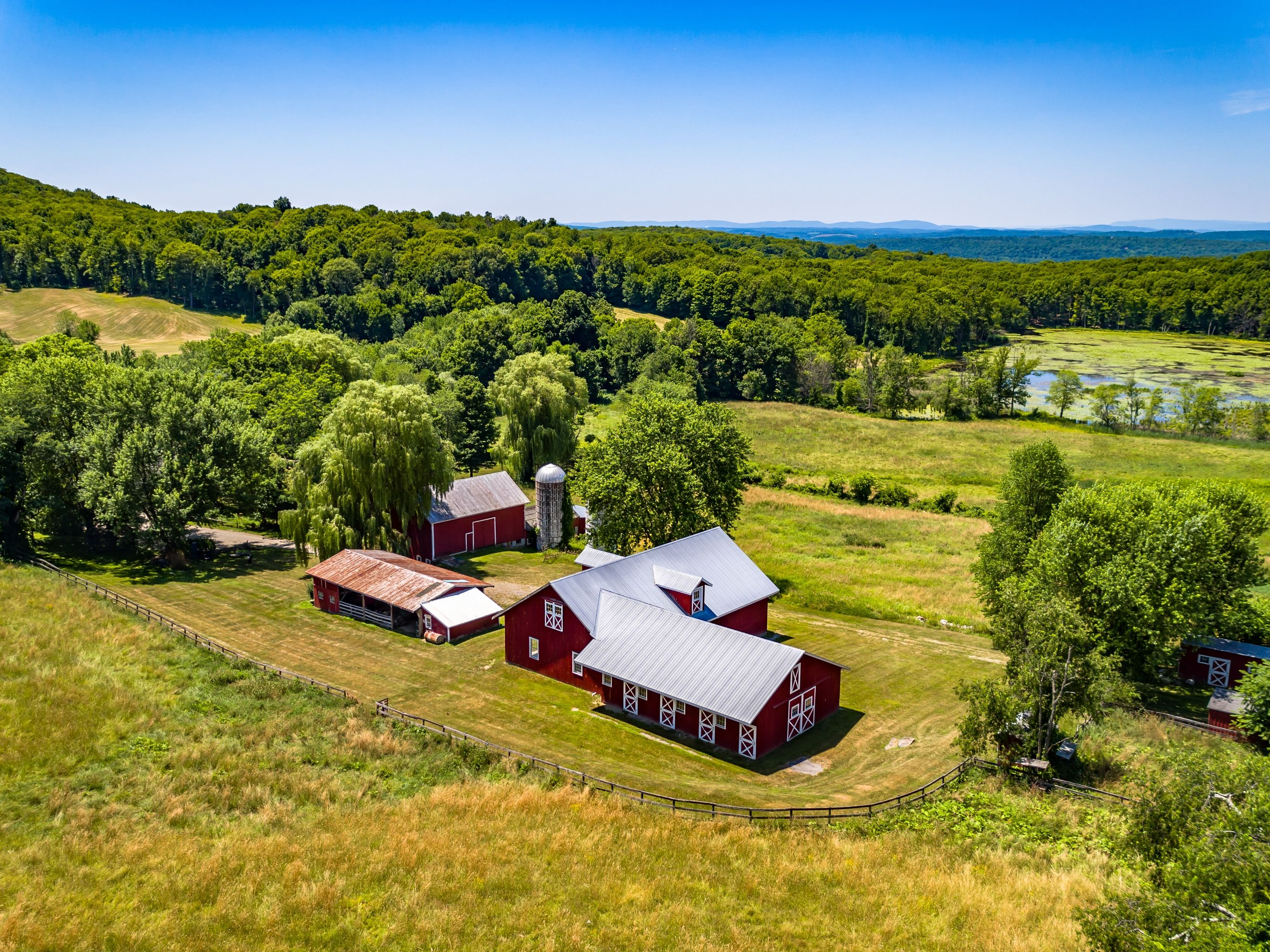 For $1 95M, this 66-acre upstate farm comes with a rustic