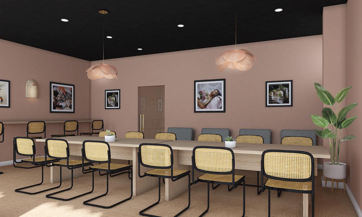 The wing, williamsburg, coworking, design, interiors