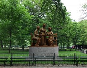 sojourner truth, elizabeth cady stanton, Susan B. Anthony, statue, monument, real women, central park, Monumental Women, Meredith Bergmann