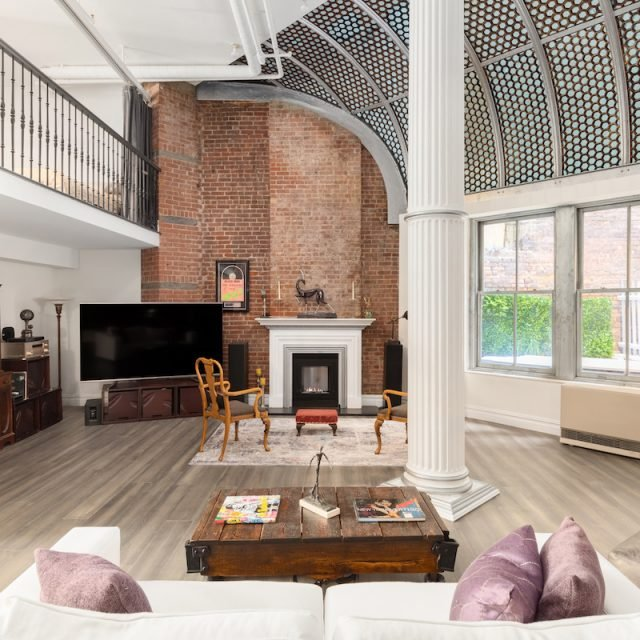 The original honeycomb skylight shines at this $2.65M Soho loft