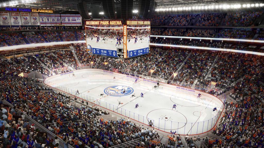 ANDREW CUOMO, BELMONT PARK, ISLANDERS, stadium, hockey