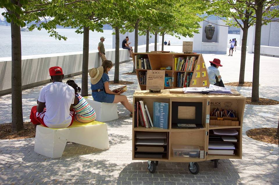 four freedoms park, pop up library, archtober, events