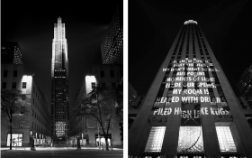 Jenny Holzer, VIGIL, Creative Time, Rockefeller Center, Public art