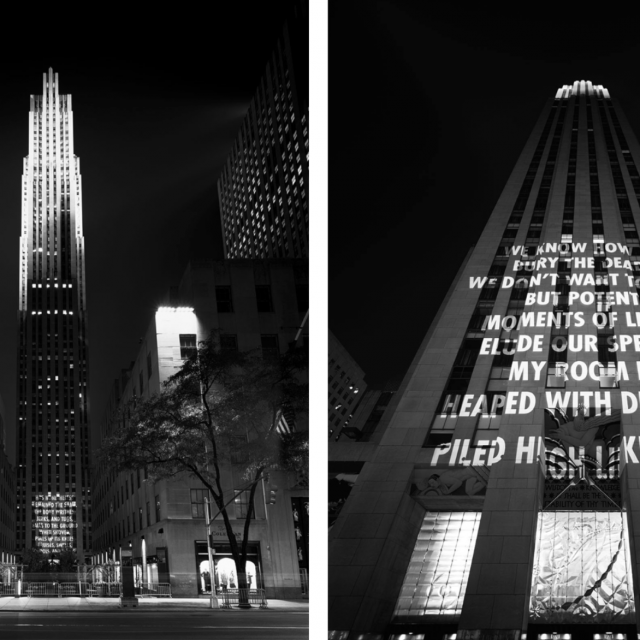 Jenny Holzer explores gun violence in a new public artwork at Rockefeller Center
