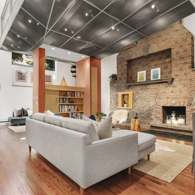 This $1.5M condo is a study in modern architecture tucked into a historic Village townhouse